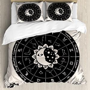 【正規販売店】 Ambesonne Sun and Moon Duvet Cover Set and Sun、Vintage Set、Vintage Dott, ホビーマンズ:5a78b92f --- maalem-group.com