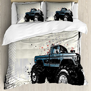 【SEAL限定商品】 Ambesonne Truck Duvet Cover Set Queen Size, Halft, ココノコ 38d1ecb2