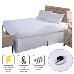 <title>SoftHeat Smart Heated [宅送] Electric Mattress Pad with Safe Warm Low Voltage Technology Micro-Plush Top California King</title>