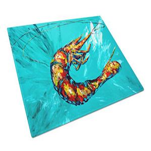 Caroline's Treasures MW1100LCB Shrimp Teal Shrimp:Glomarket