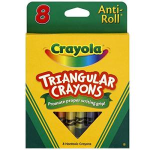 公式 Crayola Anti-Roll Triangular Crayons Assorted Colors of 24 2020 新作 8 Pack ea
