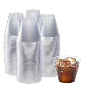 Clear Plastic Cups | 9 Ounce - 200 Pack | Har:Glomarket