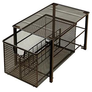 DecoBros 期間限定お試し価格 Mesh 新作からSALEアイテム等お得な商品満載 Cabinet Basket Bronze L Organizer