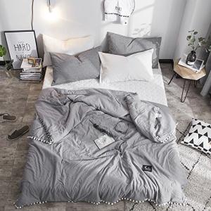 【再入荷!】 Leadtimes Kids Twin Grey Thin Comforter Kids Quilt Summ Twin Summ, レンタル衣裳COCO:b8cedf80 --- mail.gomotex.com.sg