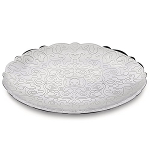 <title>Alessi Small Dressed Round Tray Silver [宅送]</title>