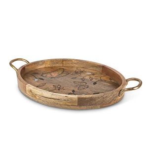 GG Butterfly Oval Tray お中元 w Decor 16I Other Handles 新作製品、世界最高品質人気!