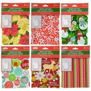 Holiday Themed Giant Gift Ribbon Bag and 人気急上昇 品質保証 Card