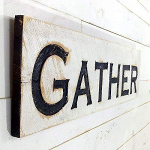 Gather Sign Horizontal - Carved a Cypress in 新品 Boar 買取