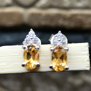 Natural 期間限定 1.5ct Golden Citrine 925 Si Solid 日本限定 Sterling