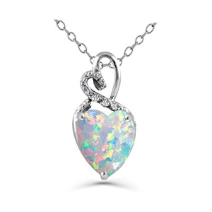 Created Opal with 登場大人気アイテム 3 Diamonds 即納最大半額 Heart Cut Penda Love