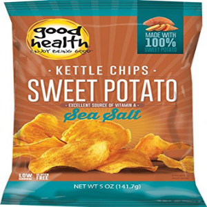 Good Health Gloriesケトルサツマイモチップス、5オンス(12パック) Good Health Glories Kettle Sweet Potato Chips, 5-Ounce (Pack of 12)