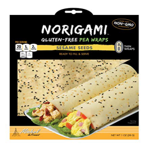 Norigami Egg 期間限定特価品 Wraps Pea Protein - High Low Carb Vegetarian Thin Healthy Wrap for Sandwiches-Ready Non To Gluten -6 1 Serve-Certified Pack 即出荷 Kosher GMO And Fill Sesame Free Seeds