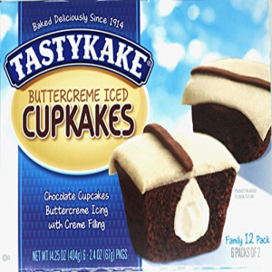 Tastykake Creme Filled Chocolate Cupcakes With Buttercream 新品 送料無料 定番から日本未入荷 Icing Per Pack 10-Boxes 12 Box Family Iced