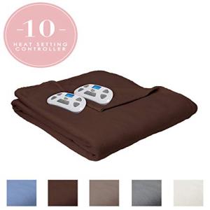 Serta Brushed Fleece Heated 永遠の定番 即納最大半額 Blanket wi Electric