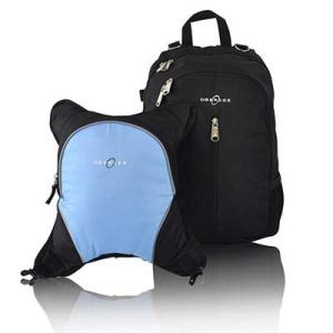 素晴らしい Rio Diaper Backpack with Baby Bottle Cooler and Changing Mat, Shoulder Baby Bag, Food Cooler, Clip to Stroller (Black/Cloud) - Obersee, メーカー直送「訳あり屋」 f0e8b84c