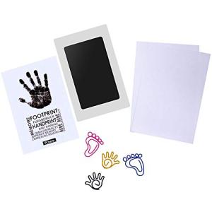 PChero Newborn Baby Handprint and Footprint Ink デポー Pad Non-Toxic Black 大注目 Kit Clean-Touch Medium Size