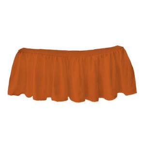 オリジナル bkb Solid Color Round Crib Dust Ruffle, Orange, ミョウコウムラ bd8a0876