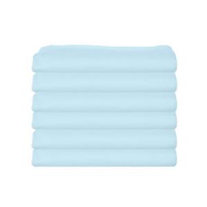 【ギフト】 bkb Daycare 6 Piece Portable Crib Sheets, Light Blue, ナカジ 13718484