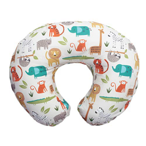 Boppy Original Nursing Pillow Positioner Neutral Jungle Colors Fashion Cotton 高級品 Multi Allover 売れ筋ランキング Blend Fabric with