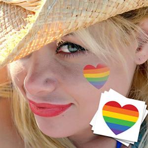 Pride Heart 新発売 Temporary Tattoos Skin 10 本日限定 Pack