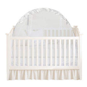 Houseables Baby Crib Safety Net Mosquito Babies Bed Netting Tent White 48