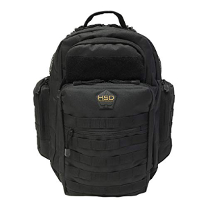 HighSpeedDaddy HSD Diaper Bag Backpack for Dad 売り込み Large Waterproof Travel Baby Men + Changing 安い Straps Style Multi-function Pocket. Black Insulated and Pockets Stroller Tactical Military Wipe Pad
