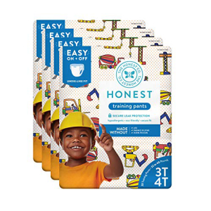 The ラッピング無料 Honest Company Toddler 現金特価 Training Pants Construction Zone 92 3T May Vary Count Packaging 4T