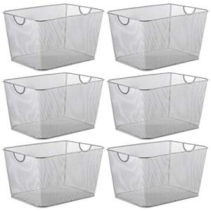 【数量は多】 YBM HOME Household Wire Mesh Open Bin Shelf Storage Basket Organizer for Kitchen, Cabinet, Fruits, Vegetables, Pantry Items Toys 1115s-6 (6, 14 x 10 x 8.8), とろける湯豆腐嬉野温泉和多屋別荘 e6192209