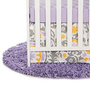 【2021 新作】 Sweet Potatoes Sweet Potato Fiona Starter Set Includes Micro Dot Sheet and Crib Skirt, Purple/White/Yellow, 【35%OFF】 92c4ffda