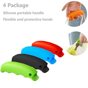 Dogxiong 4 Package モデル着用&注目アイテム Color Plastic Bag Holder 新色 Carrier Strong Shopping Bags For Silicone Grocery Handle Garbage Carrier- bag