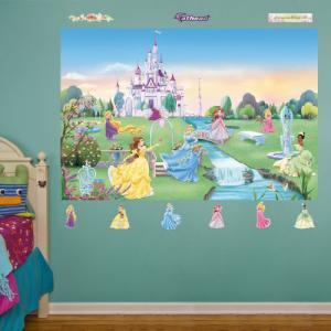 【返品送料無料】 FATHEAD Disney Princess Mural Graphic Wall D・・cor, ABC-MART 27eaa309