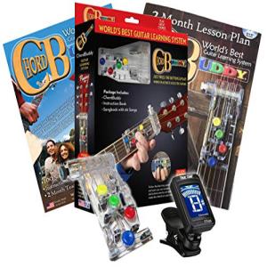 出産祝い ChordBuddy LEFT HANDED Chord Buddy Guitar Learning System w/True Tune Clip-on Chromatic Tuner LEFTY, クレアオンライン 3b05c7bc