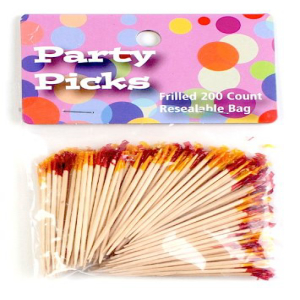 Unique Industries Party Frill Toothpick Set 毎日激安特売で 営業中です Colors 評判 of 200 Assorted
