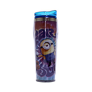 Silver ショップ 当店限定販売 Buffalo DM5270 Universal Despicable Me Far Tumbler 16-Ounces Travel Plastic Curved Out