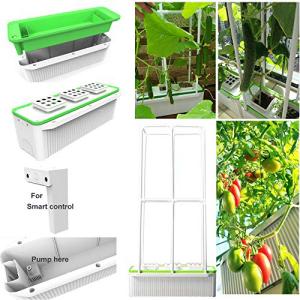 日本最級 E SUPEREGROW Big Smart Hydroponics Growing System Self Watering Planter Indoor garden for Big Climbing Plants with Built-in Pump and Smart Reminder plus 60