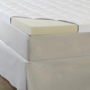 Comfort Sleep 5.5-Inch Memory Foam Fiber and 安い 在庫一掃 Topper Queen