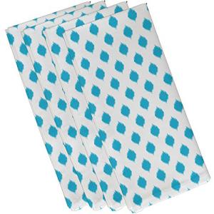モデル着用&注目アイテム E By いつでも送料無料 Design Cop-Ikat Geometric by Napkin Turquoise Print 10