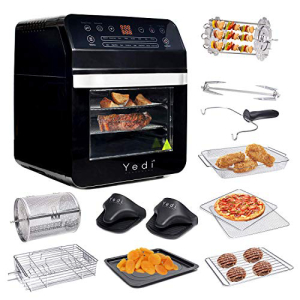<title>YEDI HOUSEWARE Yedi Total Package Air Fryer Oven XL 12.7 Quart Deluxe 直輸入品激安 Accessory Kit Recipes BPA-Free Auto Shutoff Black</title>