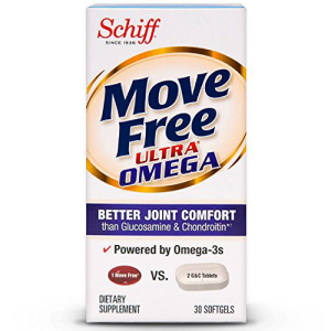 Move Free Ultra Omega 30 softgels - Joint Health Supplement Oil Acid Seasonal Wrap入荷 and Krill with Omega-3 Hyaluronic 割引