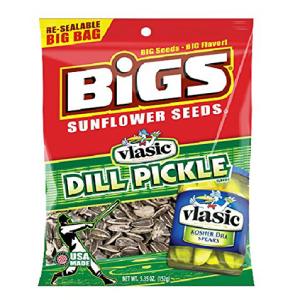 ビッグスの製品 ヒマワリの種ディルピクルス-バッグ カウント12 5.35オンス -ヒマワリの種 グラブの品種とフレーバー Product Of Bigs Sunflower Seeds Grab oz 5.35 秀逸 Varieties Pickle 売店 12 Flavors - Dill Bag Count