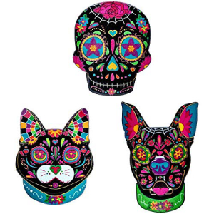 Decopac セールSALE%OFF D 記念日 a de los Muertos Day of Animals pcs 3 Layons Cake - the Dead