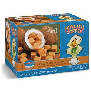 カウアイコーヒーココナッツキャラメルクランチシングルサーブカップ 12カウント 人気海外一番 Kauai Coffee Coconut Caramel 再入荷 予約販売 Single-Serve 12 Count Crunch Cups