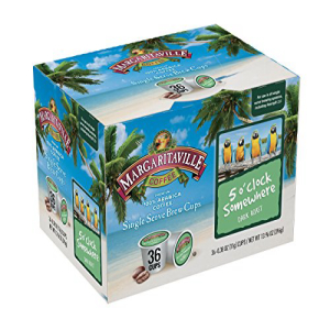 Margaritaville Coffee Single Serve お得 Brew Cups 36 Count Brewers 2.0 o'clock Keurig 5 with Compatible 超人気 Somewhere