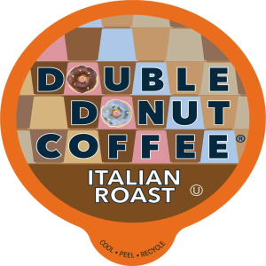 Double 記念日 Donut Coffee 24 Count Pack of 4 Italian Roast Pods Dark K Single Iced Machines For in Cups or Recyclable Keurig Serve Hot アウトレットセール 特集