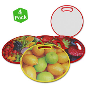 Pro Image Cutting Boards Unique Decorative Design 13-3 4 Inch Round diameter Cooking スーパーセール期間限定 for Kitchen Color and Chopping Back Pack ラッピング無料 with White Print Full