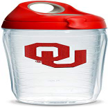 Tervis Oklahoma Sooners Logo Insulated Tumbler with Emblem 超人気 希望者のみラッピング無料 専門店 Water Red and Bottle Gray Lid Clear 24oz