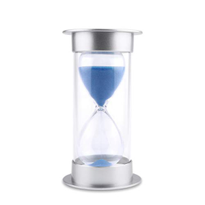 JIDUO Hourglass Sand Timer 5 10 15 30 45 60 minutes glass for Romantic 秀逸 Mantel Office Desk Book Gift min 店 Kids Kitchen Home Shelf Curio Birthday Classroom Games Dec blue Cabinet Christmas