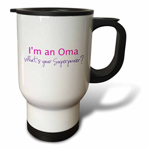 3dRose オンラインショッピング tm_193754_1 Im An Oma Whats Your Superpower Hot Pink Stainless 限定タイムセール 14-Ounce Grandma Mug Steel Gift for Travel Funny