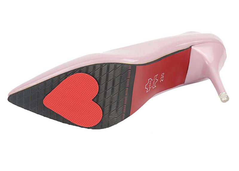女子力UP!キュートな滑り止め♪ヒール靴などの裏にこっそり滑り止め対策♪靴底のすり減り対策にも◎より安定感ある歩きをあなたに 【即納】 【送料無料メール便】ヒール靴底のスベリ止め heart ハート ハイヒール 滑り止め すべり止め 滑りやすい靴・革靴に!強力粘着テープ付き スリップ防止 靴底のすり減り対策 雨の日 転倒 怪我防止 靴の裏 ノンスリップステッカー Non Slip Sticker ペアー