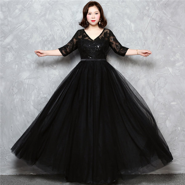 パーティードレス ワンピース ドレス 大きいサイズ ロングドレス 二次会 レディース フォーマル 超特価 2XL da187d4d4d4 披露宴 3XL 4XL おすすめ特集 20代30代40代50代 ブラックXL 上品